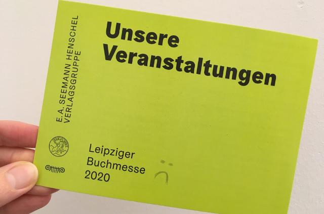 Veranstaltungskarte Leipziger Buchmesse
